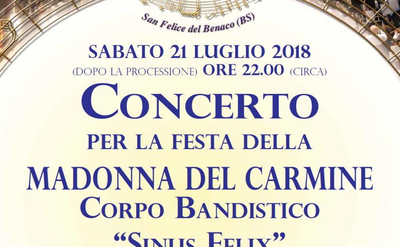 Concerto per la festa della Madonna del Carmine
