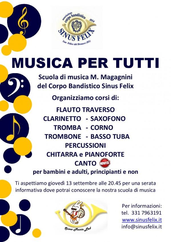 Volantino MUSICA PER TUTTI